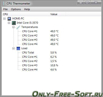 Програмку температура процессора торрент