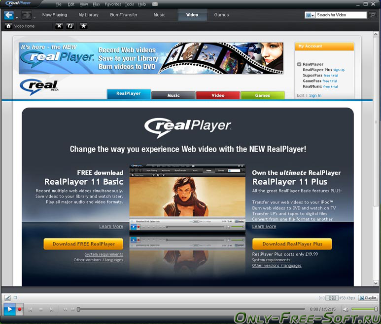 RealPlayer for Windows