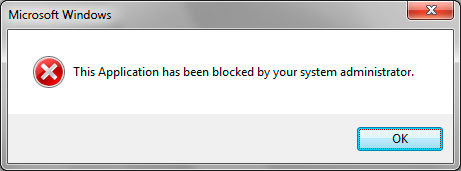 Блокировка программ администратором