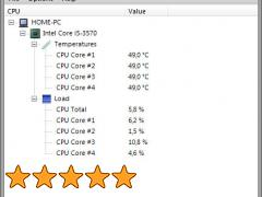 контроль за датчиками температуры процессора